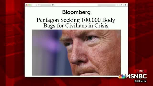 MSNBC: Pentagon Orders 100K Body Bags